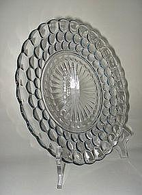 Fire King 1940s Blue Bubble Bullseye Dinner Plate