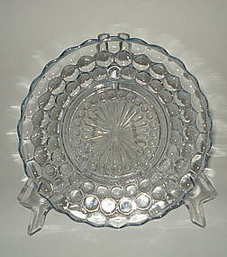 Fire King 1940s Blue Bubble Bullseye Salad Plate