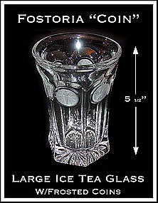 Fostoria Frosted Coin Large Ice Tea Glass