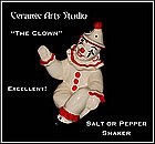 "Ceramic Arts Studio Sitting Figure ""The Clown"" Shaker"