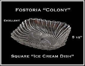 Fostoria Colony Square Ice cream Dish
