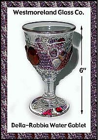 Westmoreland Glass Della Robbia Water Goblet