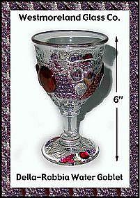 Westmoreland Glass Della Robbia Water Goblet