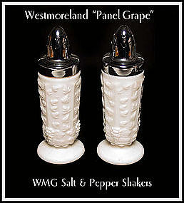 Westmoreland Paneled Grape Footed Shakers