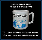 Hazel Atlas Childs Blue Prayer Mug 1950's