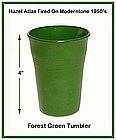 Moderntone Platonite Forest Green Flat Water Tumbler