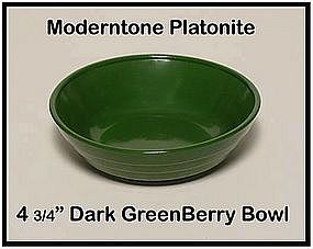 Moderntone Platonite Dark Green Berry Bowl