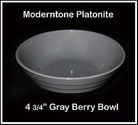 Moderntone Platonite Small Gray Berry Bowl