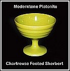 Moderntone Platonite Chartreuse Footed Sherbert