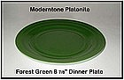 Moderntone Platonite Forest Green Dinner Plate