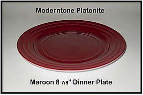 Moderntone Platonite Burgandy or Maroon Dinner Plate