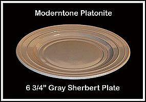 "Moderntone Platonite Gray 6 3/4"" Sherbert Plate"