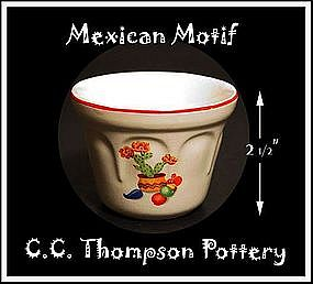 Mexican Motif China Custard Dish