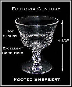 Fostoria Century Footed Ice Cream Sherbert/Dessert