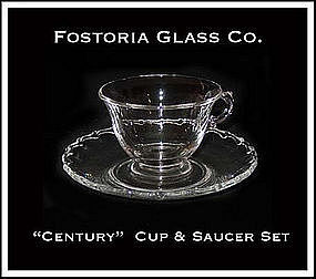 Fostoria Glass Co. ~ Century Cup and Saucer