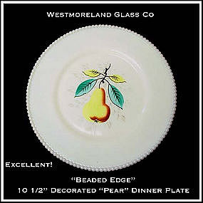 Westmoreland Beaded Edge Pear Lg Dinner Plate