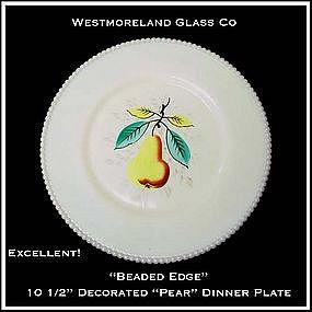 Westmoreland Beaded Edge Pear Lg Dinner Plate