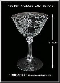 Fostoria Romance 6oz Tall Champagne Sherbert Stem