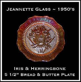 Iris and Herringbone Iridescent Sherbert Plate