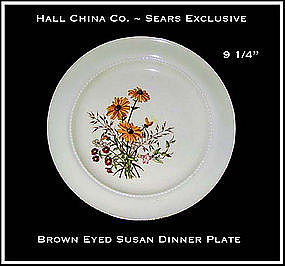 Hall China Sears Brown~Eyed Susan Dinner Plate