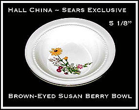 Hall China Sears Brown~Eyed Susan Berry Bowl