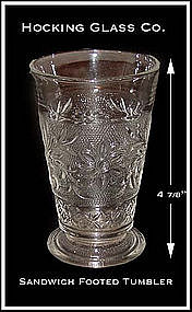 Hocking Glass Sandwich Footed 9oz Tumbler