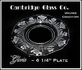 Cambridge Glass Co ~ Gloria Bread and Butter Plate