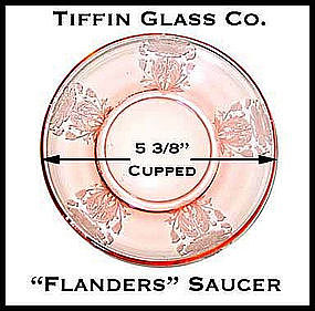 Tiffin Glass Co. - Etched Flanders ~ Pink Saucer