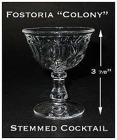 Fostoria Colony Footed Cocktail Goblet