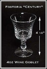 Fostoria Century 4oz Stemmed Wine Goblet