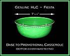 HLC~Genuine Fiesta Original Promotional Casserole Base