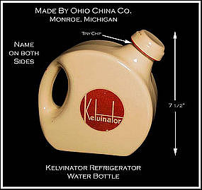Kelvinator Advertising Refrigerator Water Bottle