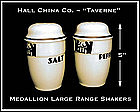Hall Unusual Art Deco 1950's Taverne Medallion Shakers