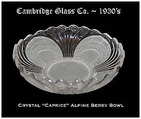 Cambridge Caprice Alpine 5 inch Berry Bowl
