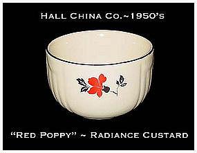 Hall China Red Poppy Sunshine Radiance Custard
