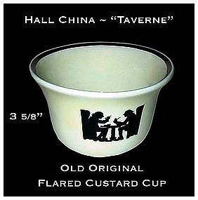 Hall China Taverne Flared Bobby Custard Cup