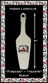 "Homer Laughlin China 9"" Fireside Hearth Pie Lifter"