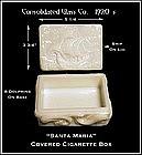 1920's Consolidated Santa Maria Cigarette Box-Dolphins
