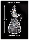 Fostoria Glass Co. ~ Heather Pattern Oil Bottle/Cruet