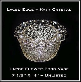 Katy Crystal Large Flower Frog Vase