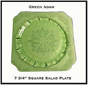 Adam Green Square Salad Plate