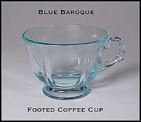 Fostoria Blue Baroque Footed Coffee Cup