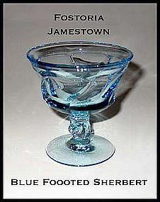 Fostoria Jamestown Blue Footed Sherbert