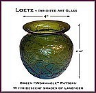 Loetz Iridescent Green Art Glass Vase ~ Superb!