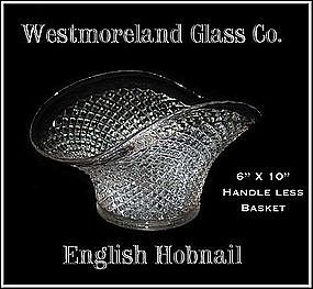 "Westmoreland English Hobnail 10"" Basket"
