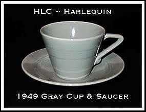 HLC Harlequin Original Gray Cup and Saucer Set