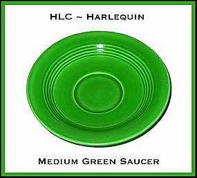 HLC Harlequin Original Med Green Saucer Only