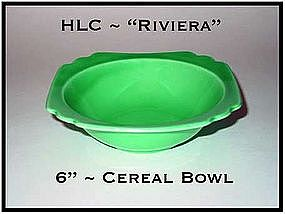 "HLC Riviera Green 6 1/4"" Cereal Bowl"