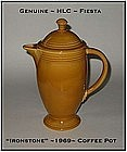 HLC Genuine Fiesta Unusual Ironstone Coffee Pot