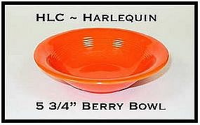 "HLC Harlequin Original Tangerine 5 1/2"" Berry Bowl"